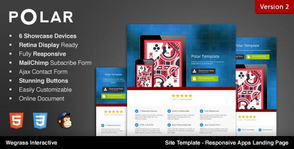 Polar - Responsive Apps Landing Page - Polar - Site Template - Responsive Apps Landing Page