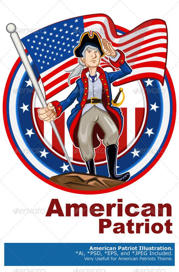 GraphicRiver American Patriot Emblem 5087125