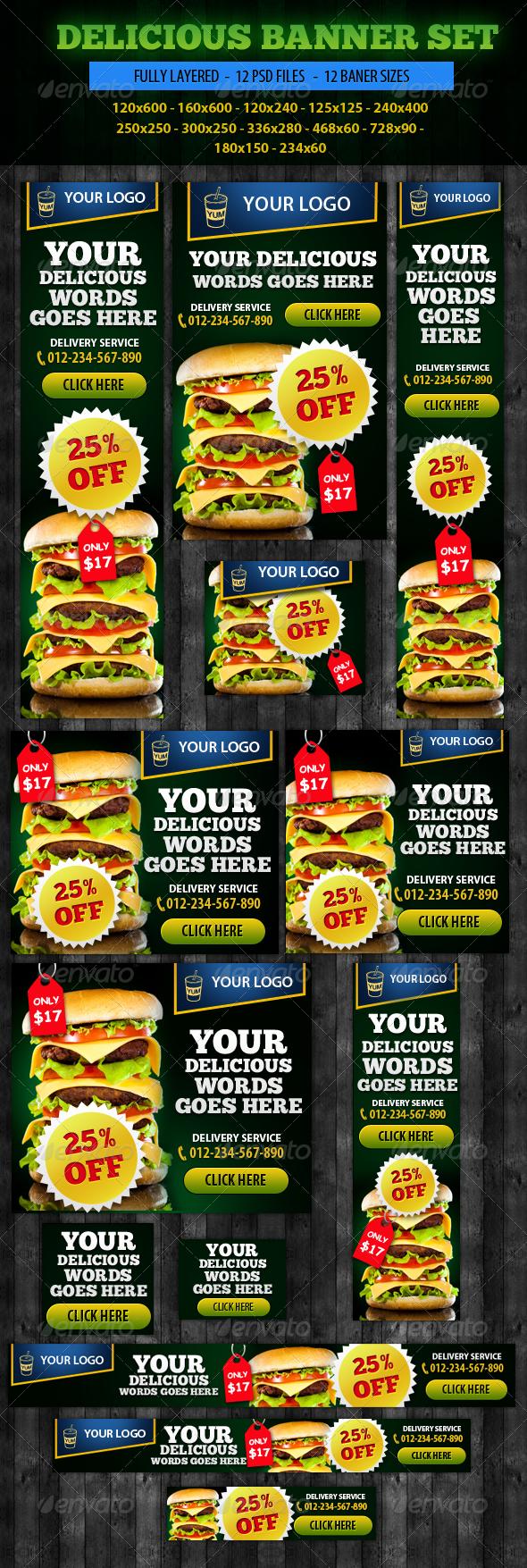 GraphicRiver Delicious Banner ad Design 5103879