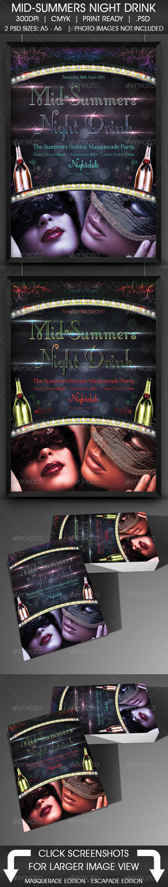 GraphicRiver Mid-Summers Night Drink 5104107