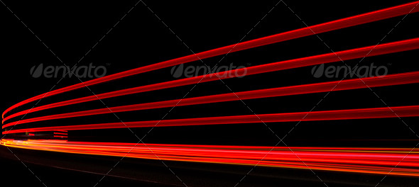 Abstract orange, red and yellow lights in road tunnel that can b - Stock Photo - Images