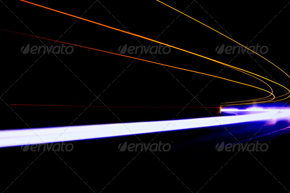 Abstract car lights - Stock Photo - Images