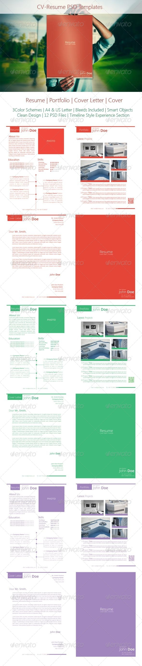 GraphicRiver Clean CV Resume Template 5036851