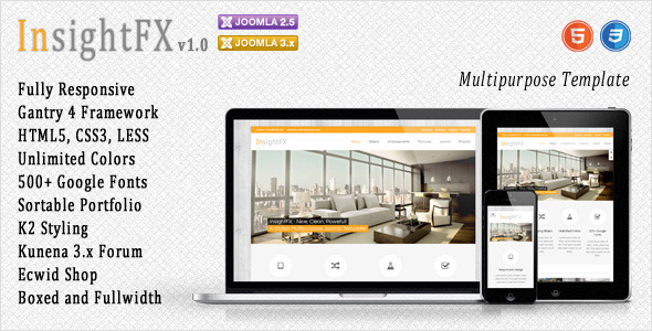 ThemeForest InsightFX Multipurpose Joomla Template 5104307