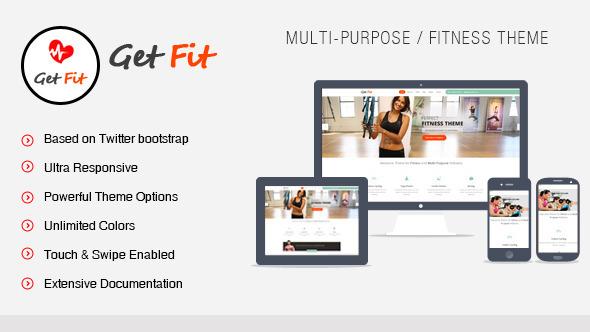 ThemeForest GetFit Gym Fitness Multipurpose WordPress Theme 5105008