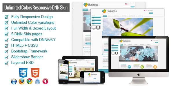 ThemeForest Ternary-Unlimited Colors Responsive DNN Skin 5062983