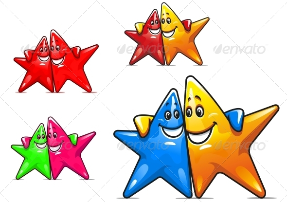 Smiling Cartoon Stars - Miscellaneous Characters
