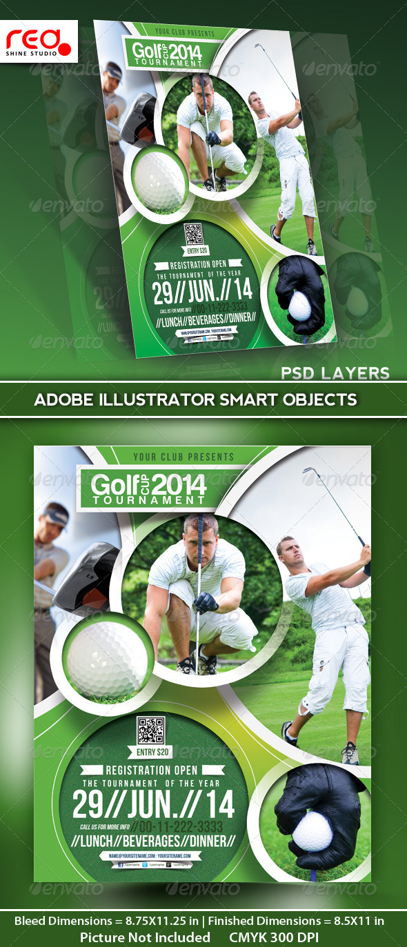 GraphicRiver Golf Tournament Flyer Poster Magazine Template 5105949