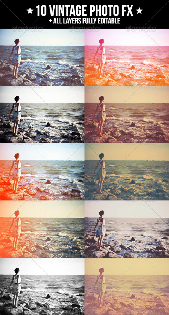 GraphicRiver 10 Vintage Photo FX 5106386