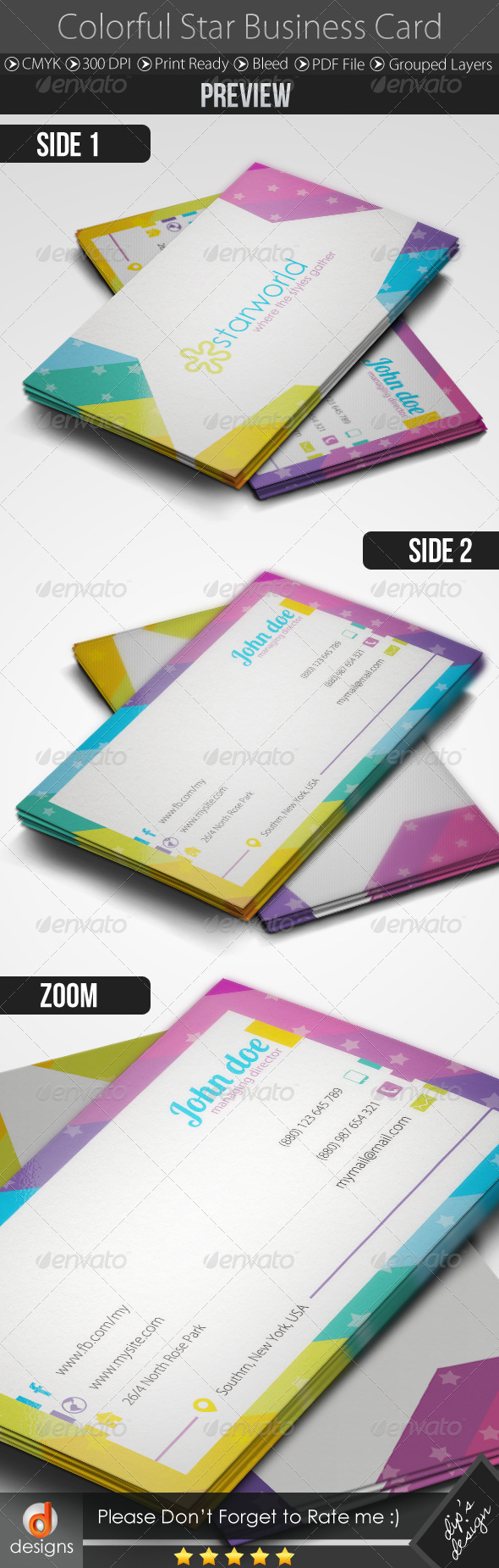 GraphicRiver Colorful Business Card 5106391