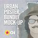Urban Poster Mock-Up Bundle - GraphicRiver Item for Sale