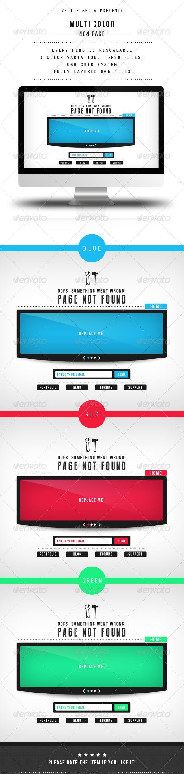 GraphicRiver Multi Color 404 Page 5106505
