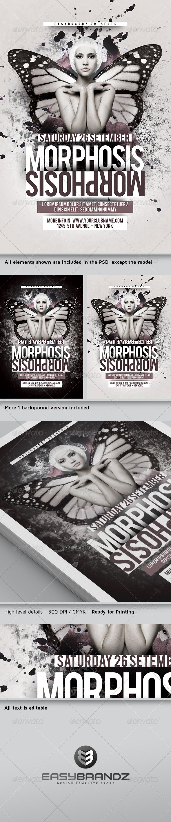GraphicRiver Morphosis Flyer Template 5106830