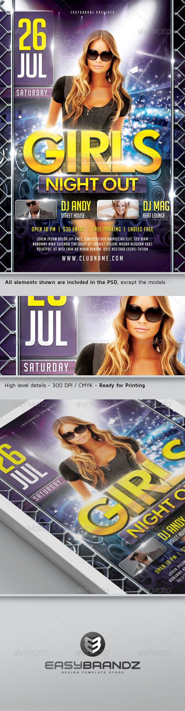 GraphicRiver Girls Night Out Flyer Template 5107184