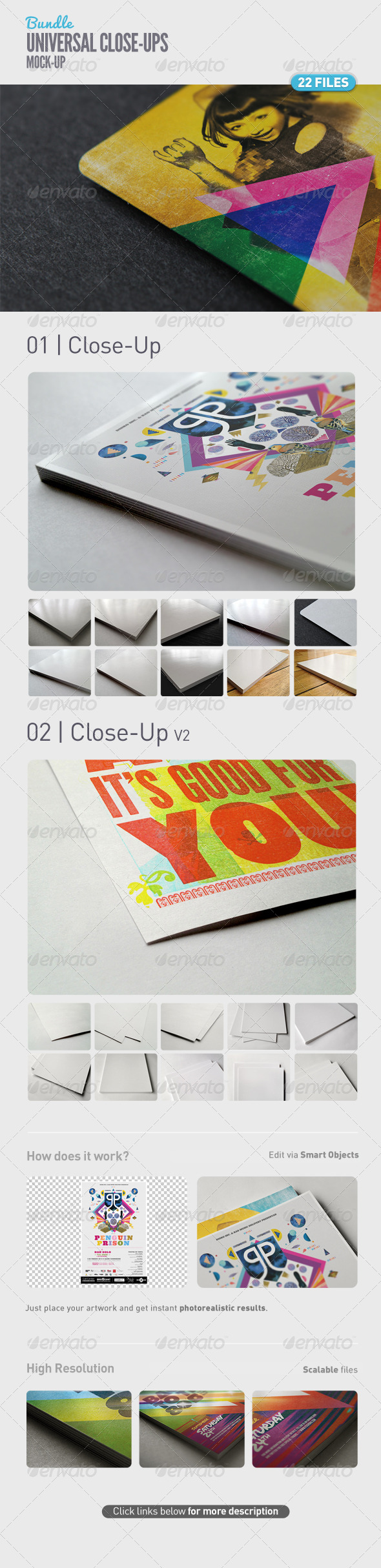 GraphicRiver Universal Close-Up Mock-Up Bundle 5107291