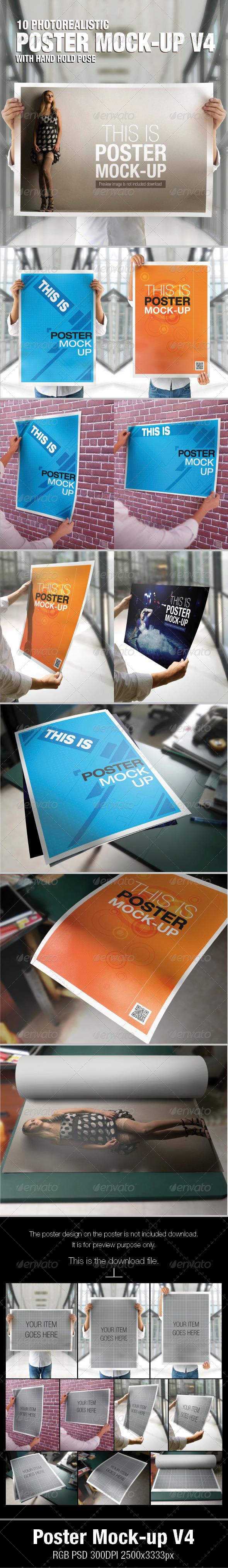 GraphicRiver Poster mock-up V4 5107575