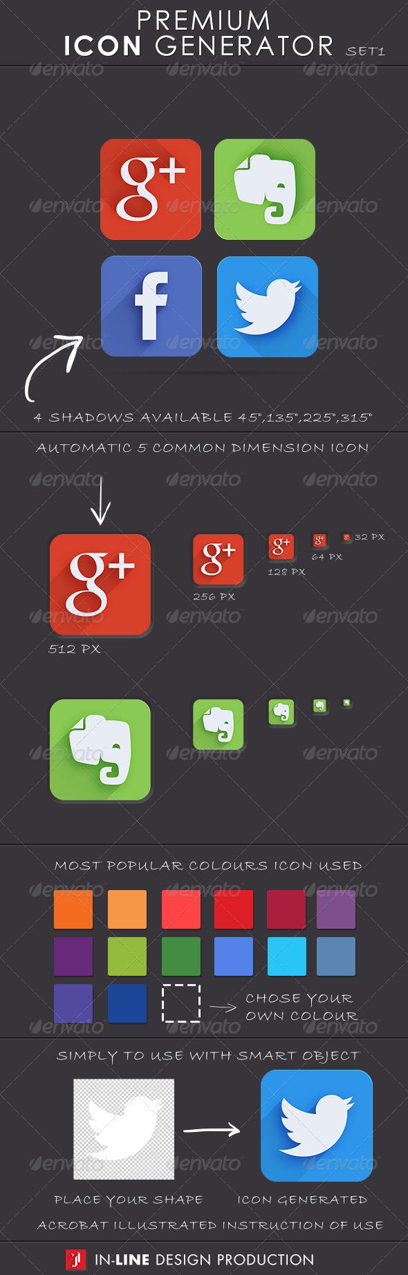 Premium Icon Generator Set.1 - Icons