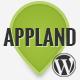AppLand – Parallax App Landing WordPress Theme  Free Download