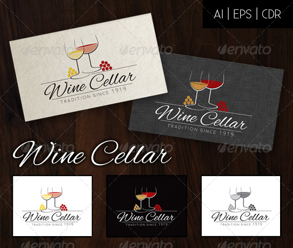 GraphicRiver Wine Cellar Logo 5092273