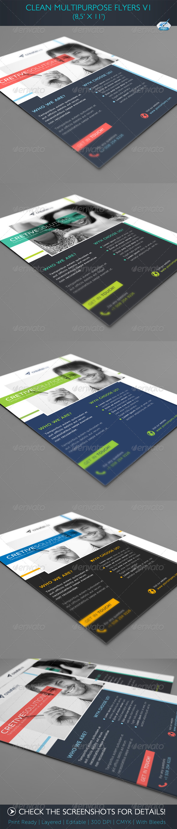 GraphicRiver Clean Multipurpose Flyers Vol1 5044673