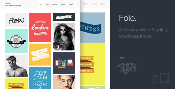 ThemeForest Folo Premium Responsive Portfolio Theme 5108315