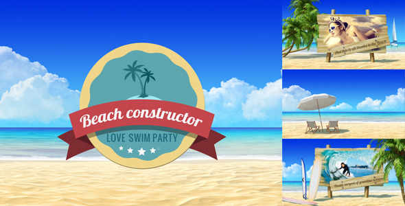 Summer Beach Video Displays Vacation Travel Theme