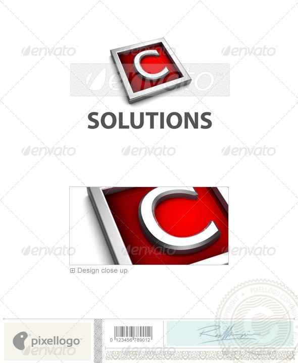 C Logo 3D-549-C