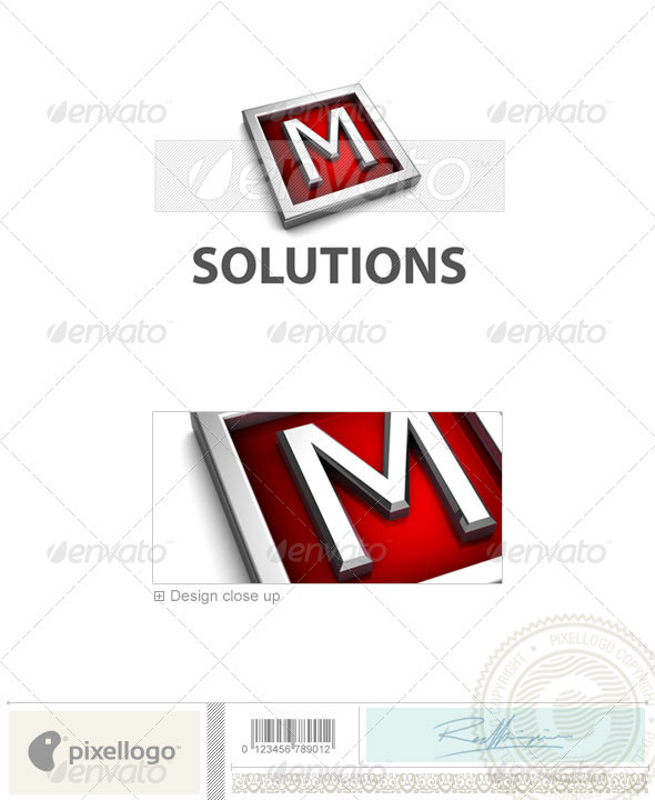 M Logo - 3D-549-M - Letters Logo Templates