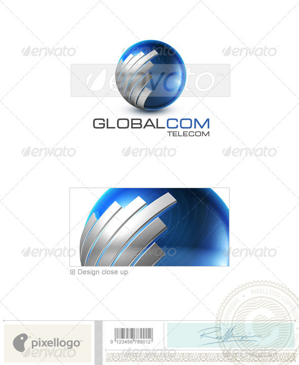 Communications Logo - 3D-503 - 3d Abstract