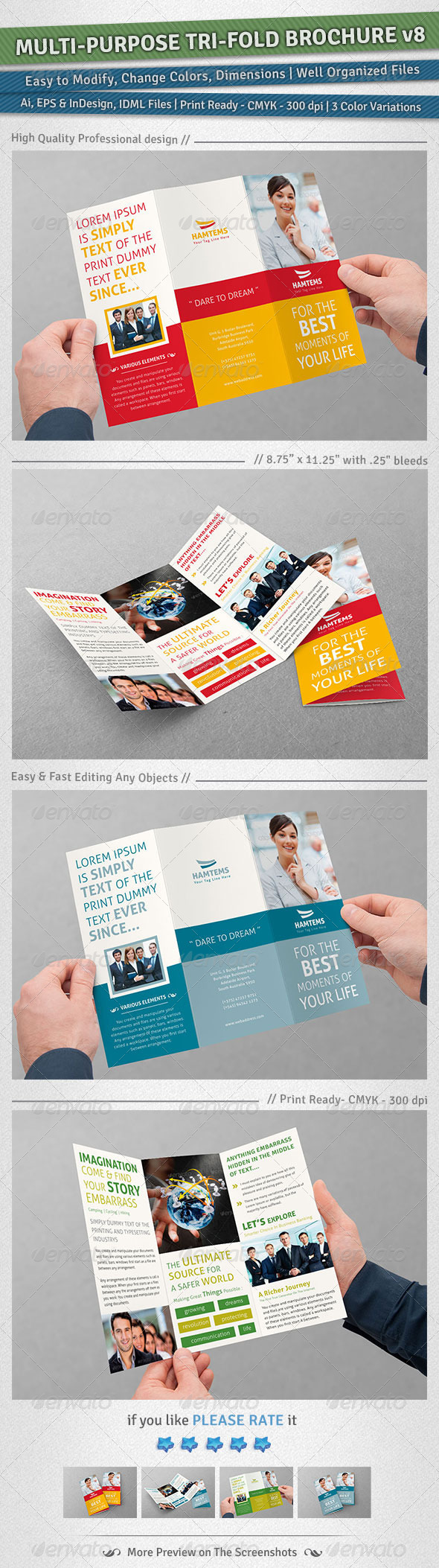 Multi-purpose Tri-Fold Brochure Volume 8