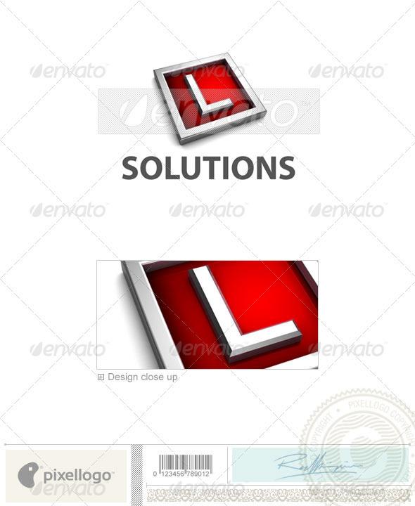 GraphicRiver L Logo 3D-549-L 526580