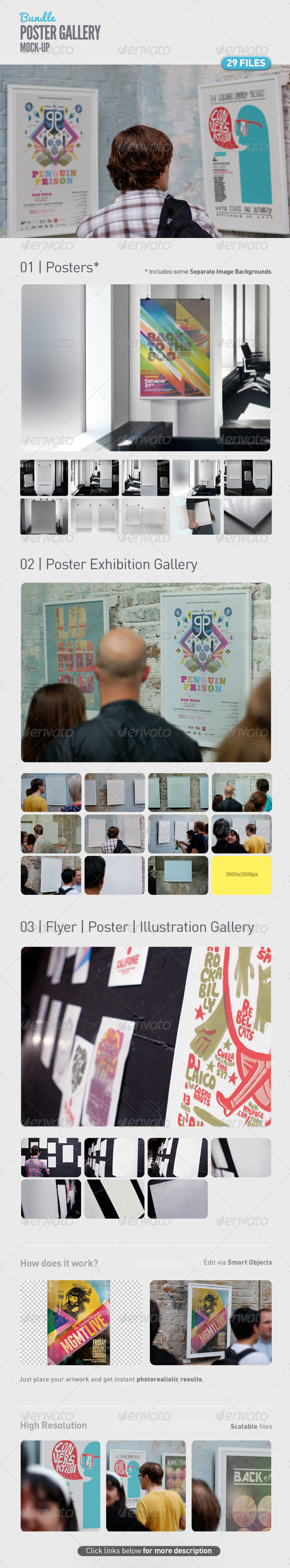 Poster Gallery Mock-Up Bundle - Posters Print