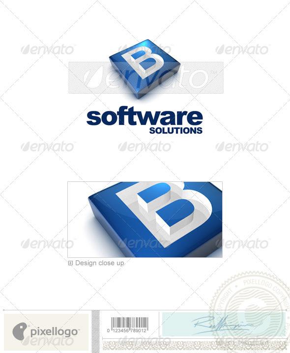 GraphicRiver B Logo 3D-644-B 526596