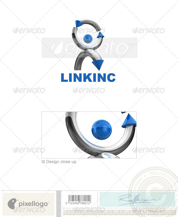 Communications Logo - 3D-570 - 3d Abstract