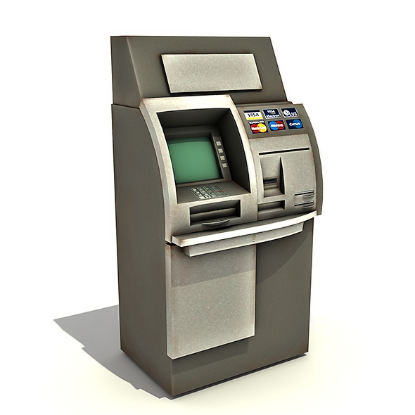 automated teller machine atm by rescue3dcom 3docean. Black Bedroom Furniture Sets. Home Design Ideas