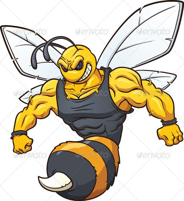 GraphicRiver Hornet Mascot 5109019