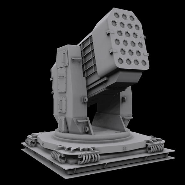 3DOcean Airframe Missile Launcher High poly 5109050