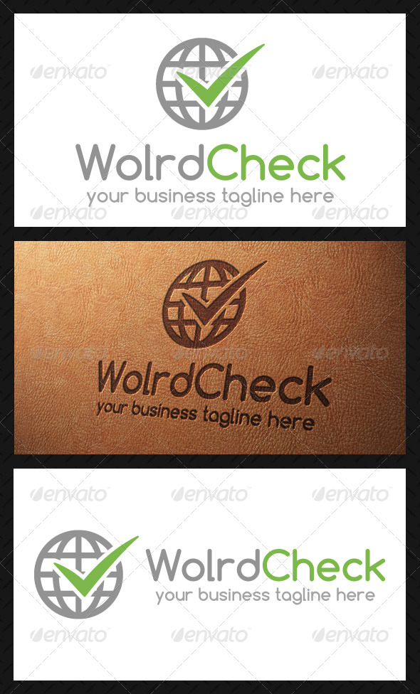 GraphicRiver World Tick Check Mark Logo Template 5109060