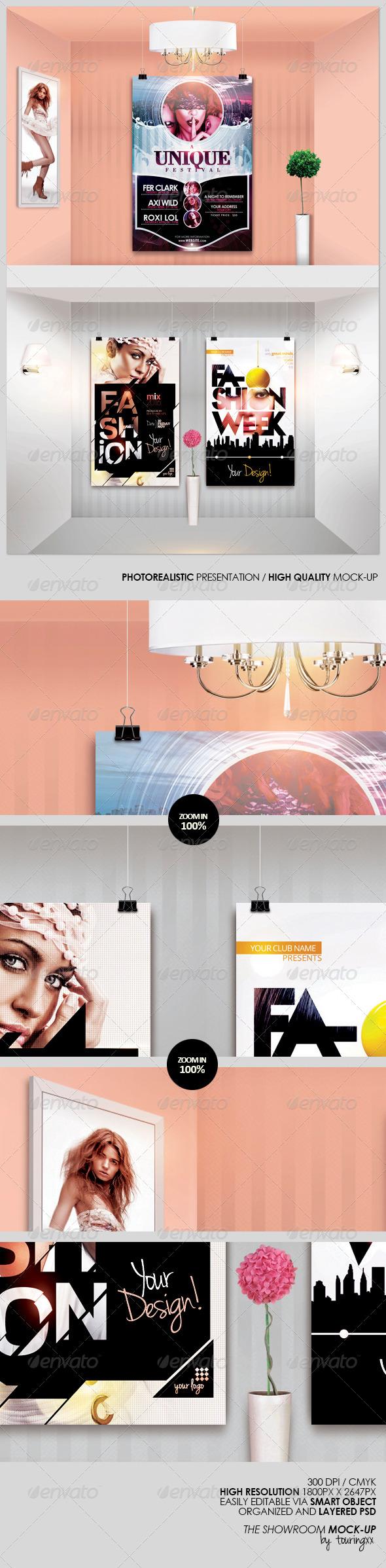 The Showroom Mock-Up - Product Mock-Ups Graphics