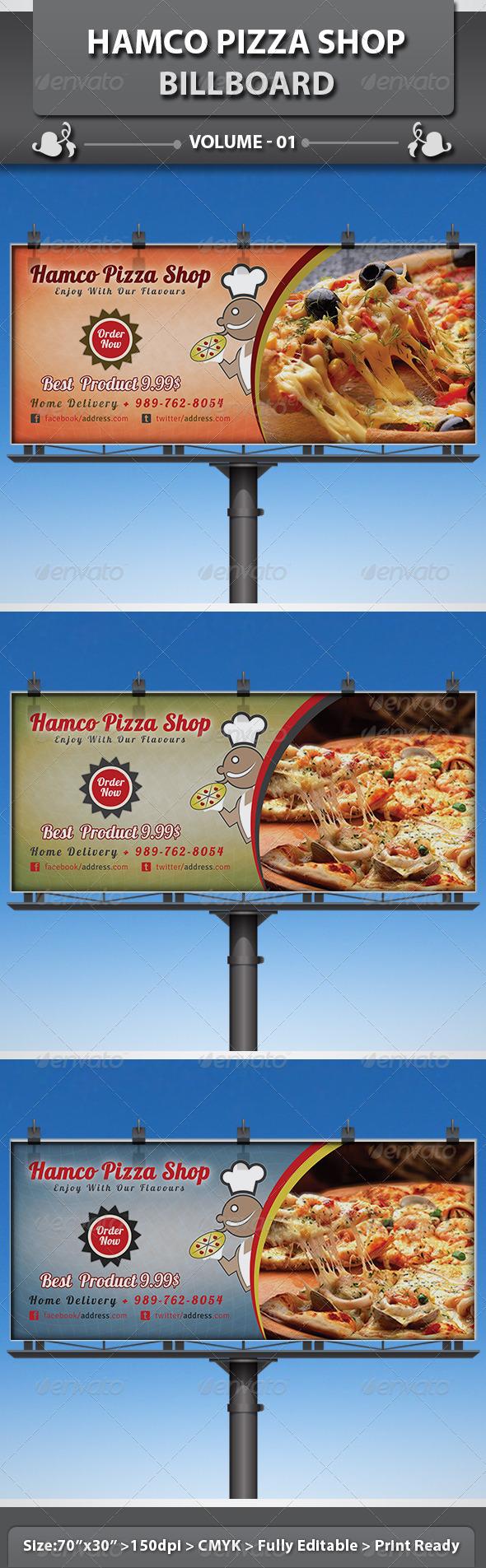 GraphicRiver Hamco Pizza Shop Business Billboard 5109176