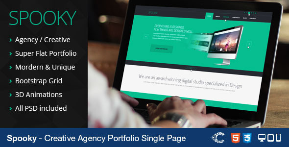 Spooky - Responsive One Page HTML Template (Creative)