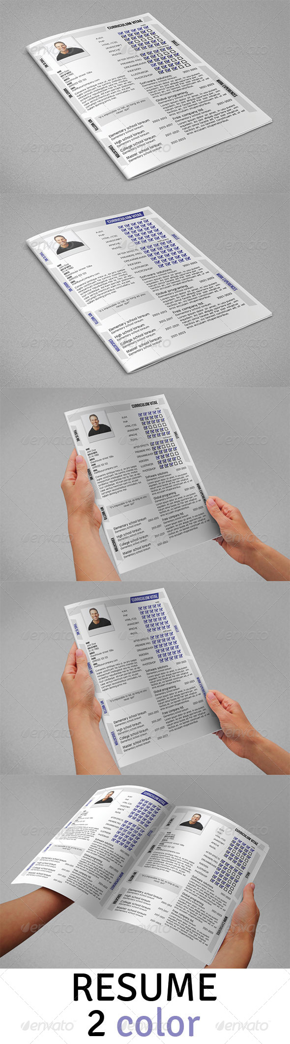 GraphicRiver Resume CV 5053651