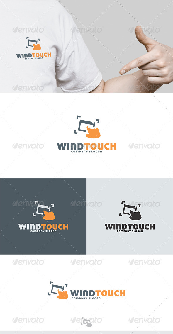 Wind Touch Logo - Symbols Logo Templates
