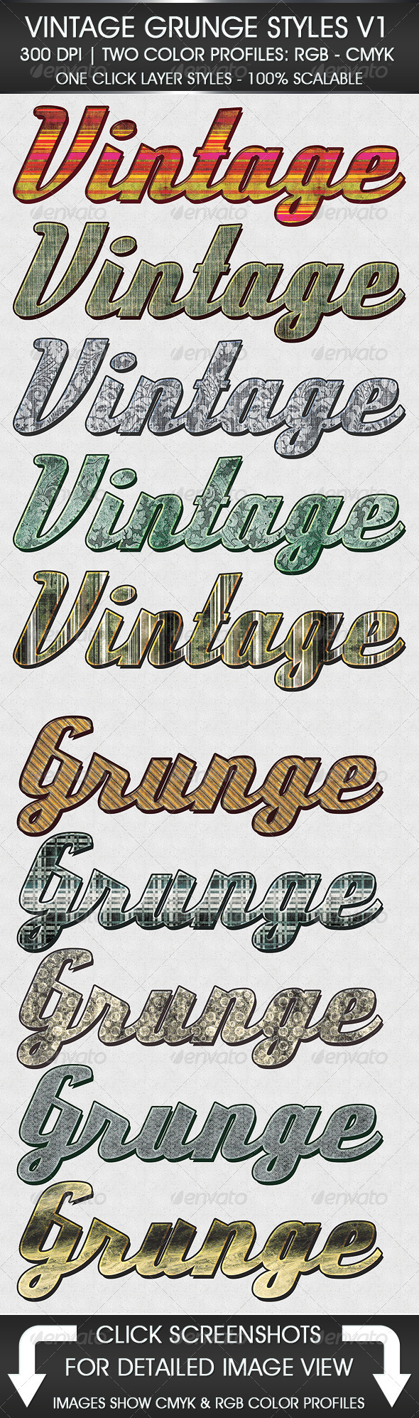 GraphicRiver Vintage Grunge Text Styles 5109956