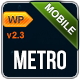 Metro Mobile Premium WordPress Mobile Template  Free Download