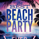 Retro Typography Summer Beach Party Flyer Template - GraphicRiver Item for Sale