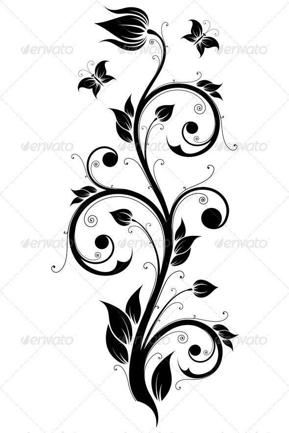 Floral Design Ornament - Flourishes / Swirls Decorative