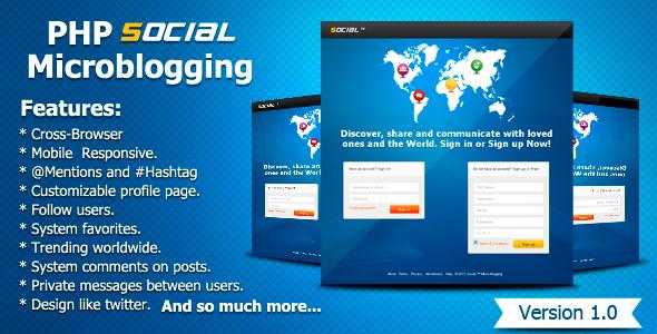 CodeCanyon PHP Social Microblogging 5095921