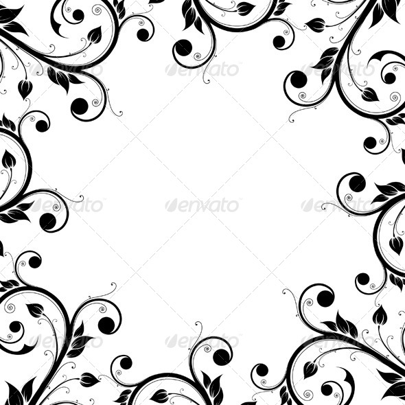 GraphicRiver Floral Design Ornament Frame 5110945