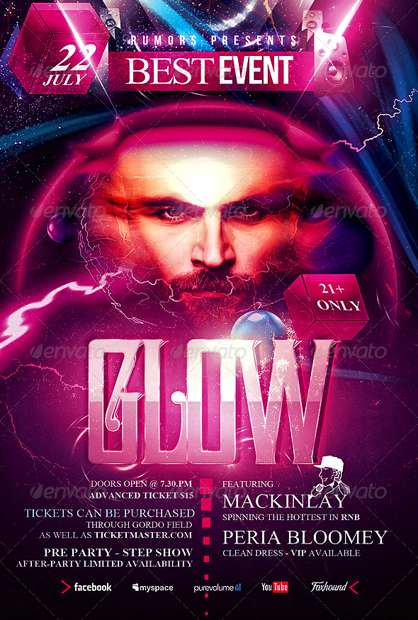 GraphicRiver Glow Flyer Template 5111071
